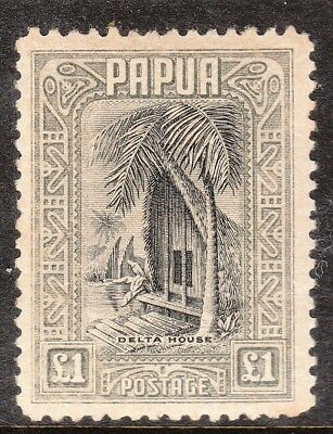 Papua  Sg 145 Fisherman Black And Olive Grey   Mint Never Hinged