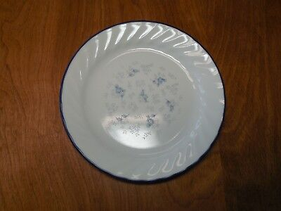 "Corelle BLUE BLEU FLEUR Salad Plate 7"" Swirl Rim 1 ea                7 available"