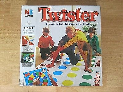 Vintage Twister Board Game - Made In 1978 - Complete