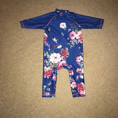Floral Swimsuit Baby/toddler Girl . 12-18 Months