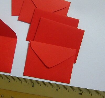 "Handmade small envelopes 1-1/2""x2"" tiny little cute RED color paper tooth-fairy"
