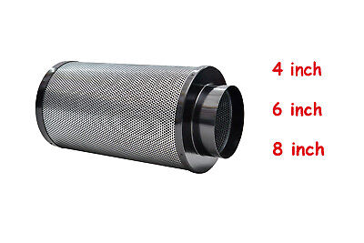 "4"" 6"" 8"" Air Carbon Filter Charcoal Scrubber Purifier Odor Control Grow Tent"