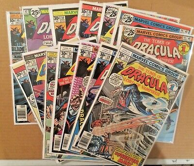 Tomb Of Dracula Run Lot Of 14  Marvel Bronze-Age Comics Lot 3