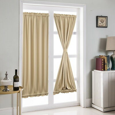 Home French Door Curtains Blackout Patio Door/Glass Curtain Panel Decor Cheap 1X