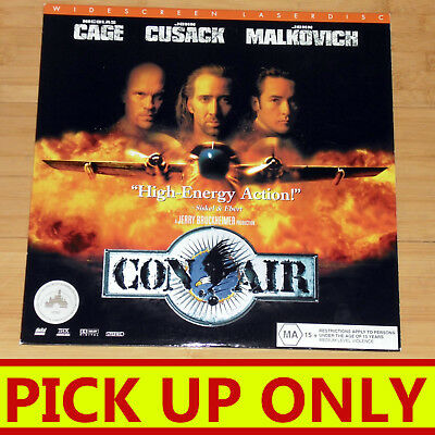 Laserdisc LD Con Air NTSC Cage Cusack Malkovich [PICK UP ONLY vic]