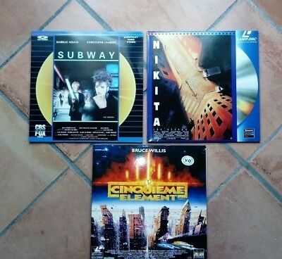 Lot Luc Besson X 3 / Pal / French / Laserdisc  Ld