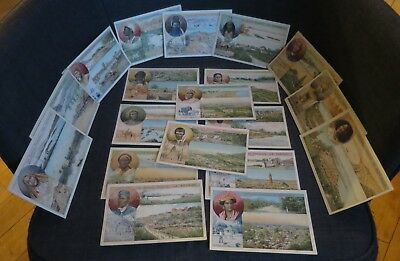 COLONIES FRANCAISES rare ensemble de 19 cartes illustrées
