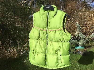 Next Bright Green Girls Gilet Bodywarmer Fleece Lined Age 13-14 yrs height 164cm