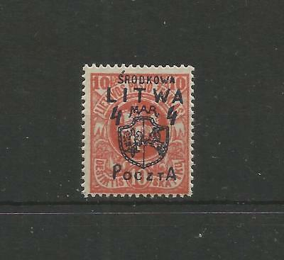 Poland,Central Lithuania,Fi:5**,mnh,hard to find!