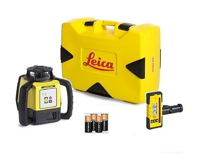 Rotating Laser Leica Rugby 620 w/ Rod Eye 120 & Alkaline Package 6011152