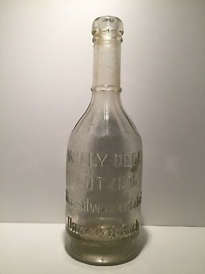 Old bottle / alte Flasche / Willy Dege, Loetzen (Lotzen), Ostpreussen um 1900