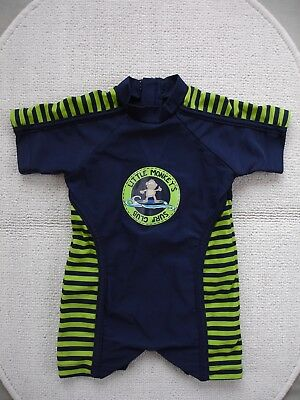 Baby Boys Blue & Green UV Sunsuit Age 6-9 months- Matalan