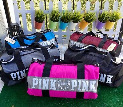 Victoria s Secret love Pink Duffel/Gym Bags Black