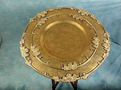 Folding CHINESE Japanese Anglo-Indian TABLE 2 trays Brass Tea Coffee Vintage