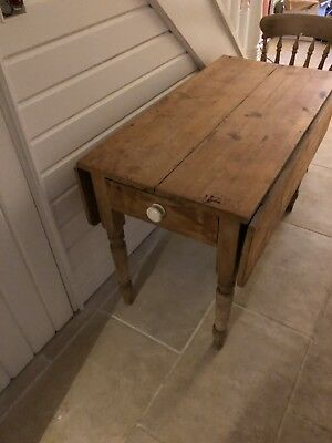 Victorian Pine Kitchen Dining Table Original Antique Country Living