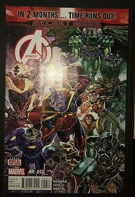 AVENGERS (2012/Vol 5) #42 by Hickman & Caselli: TIME RUNS OUT - MARVEL COMICS