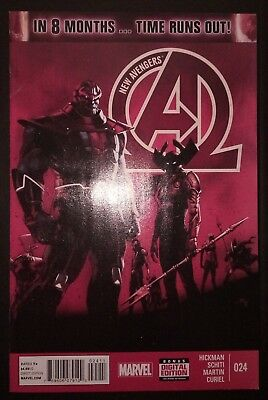 NEW AVENGERS (2013/Vol 3) #24 by Hickman & Schiti: TIME RUNS OUT - MARVEL COMICS