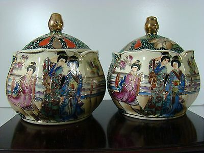 A Pair of Antique Chinese Famille Rose Porcelain Pots