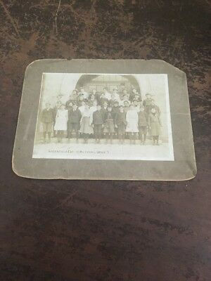 "vintage antique framed photo of greenfield high school grade 7 indiana 7""x9"""