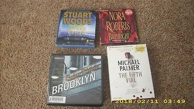 Lot of 4 audiobooks on CDs: Toibin, Palmer, Roberts, Woods