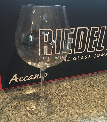 New Riedel Accanto Lead Free Crystal 24.75 Oz Pinot Noir Red Wine Glasses Set4