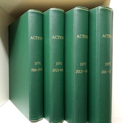 Action Weekly Comic Bound 4 Volume Set 1976 1977 Battle Picture Pre Ban Warlord