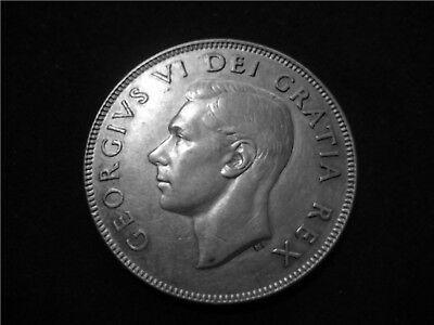Canada 1952 Silver 50 Cents ~ George VI ~ Last Date this Issue