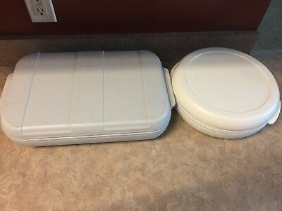 Aladdin Tempreserve Insulated Round & RECTANGULAR Hot Cold Food Carrier Pie LOT