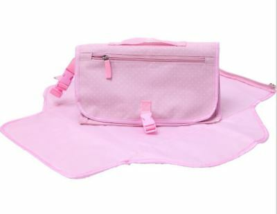 Baby Travel Nappy Changing Waterproof Mat and Clutch Bag by Babyhugs - Pink