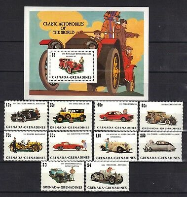 Grenada Grenadines. Anniversary Of The Model T Ford 1983 Mini Sheet And Set Mnh