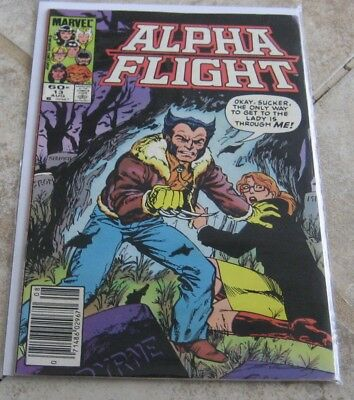Alpha Flight Vol 1 #13 VG/Fine Newstand Edition Wolverine Marvel Comics