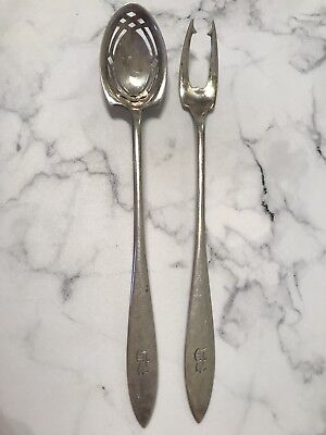 Antique Sterling Silver Lafayette By Towle Olive Spoon And Pick Fork