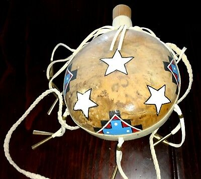 Hand painted Gourd Canteen painted by Doug Williams - Alabama Caushatta Tribe
