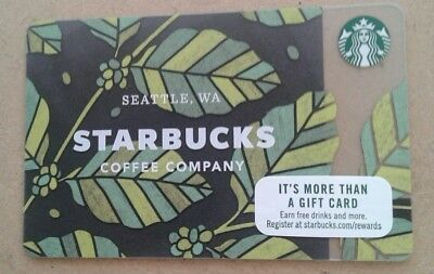 STARBUCKS GIFT CARD ARABICA COFFEE LEAVES  #6149 COLLECTIBLE, MINT issued 2018