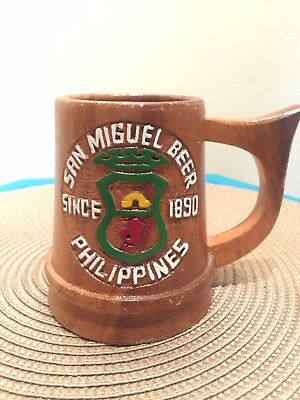 san miguel since 1890 philippines beer mug perfect condition collectible Brown