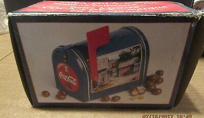 Vintage and New in box Coca Cola Mailbox Collectors Tin 1999