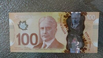 Canadian $100 Dollar Bank Note Polymer Bill FKF7518694 Circulate 2011 Canada