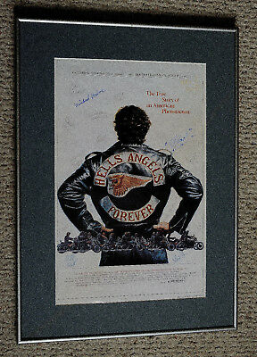 HELL'S ANGELS FOREVER movie poster , signed by 17, matted and framed