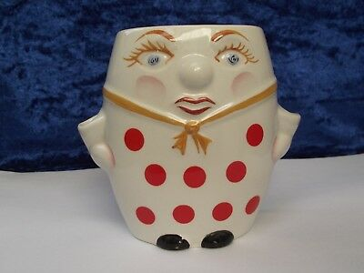Rare 1970's HUMPTY DUMPTY, Small Wall Pocket by Lord Nelson Pottery EXC