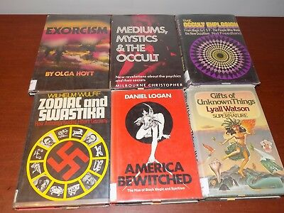 Lot of 6 HB books on the Occult, Mystics, Exorcism, Unknown, etc. X-library