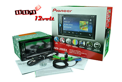 "Pioneer AVH-200EX Double Din 6.2"" DVD/CD/iPhone/Android/Bluetooth"