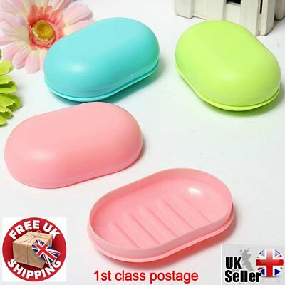 new TRAVEL SOAP DISH Box Blue & Pink CONTAINER HOLDER TRAY BOX free UK Delivery