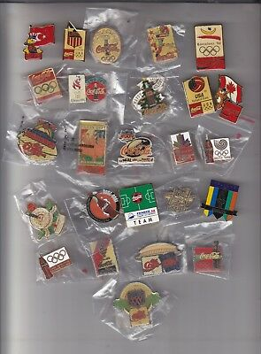 25 Assorted Coca-Cola Pins Olympic, Soccar, Nfl, Football Special Events   . #15