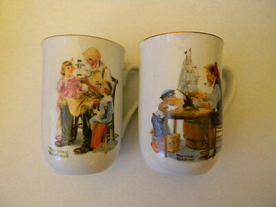Two different Cups fom the Norman Rockwell Museum-dated 1982