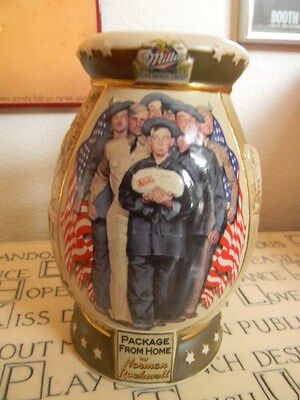 "Norman Rockwell ""Package From Home"" Miller Brewing-2nd in Collector Steins-# Ed."
