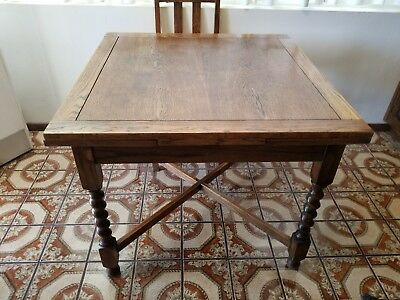 Antique farmhouse kitchen table and chairs