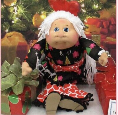 2017 Appalachian Christmas Girl Cabbage Patch Kid Soft Sculpture Sculpt New
