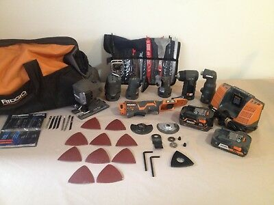 Very Nice Condition of Used Rigid Cordless Tools Bulk Buy With Lots of Extras