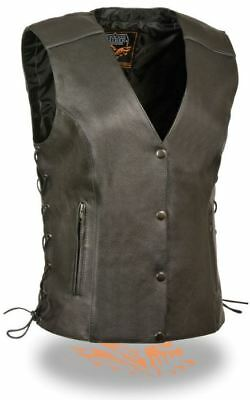 Milwaukee Womens Side Lace Vest w/Reflective Piping Black