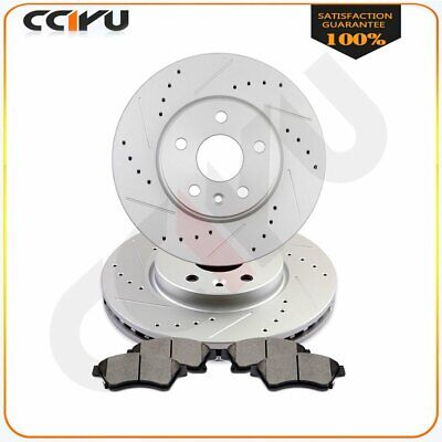 Front Cross-Drilled Slotted Brake Rotors Disc and Ceramic Pads Cruze,Orlando
